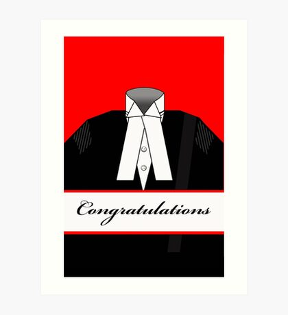 Male Barrister Congratulations Illustration Art Print