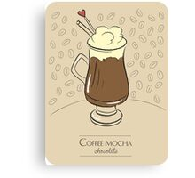 Coffee mocha vanilla vintage design Canvas Print