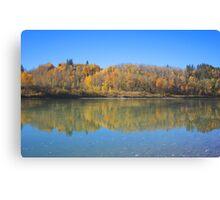 North Saskatchewan River in the fall Canvas Print