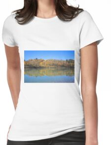 North Saskatchewan River in the fall Womens Fitted T-Shirt