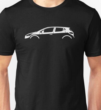 Car Silhouette - For  Renault Clio MK4 (2012-) hatchback Unisex T-Shirt