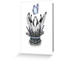 crystal hands colored Greeting Card