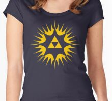 Spiritual Triforce  Women's Fitted Scoop T-Shirt