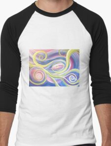 Tendrils Abstract Men's Baseball ¾ T-Shirt