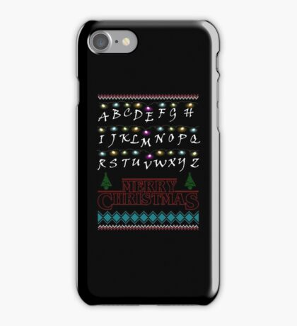 Funny Stranger Things Ugly Christmas Sweater T-Shirt iPhone Case/Skin
