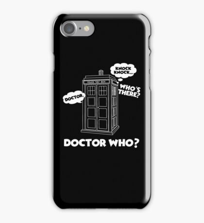 Funny Who Love Doctor T-Shirt, Who Doctor T-Shirt, Teenant Doctor Fans Gift iPhone Case/Skin