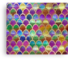 Rainbow mermaid scales Canvas Print