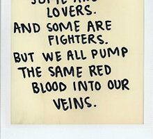 Lovers/Fighters Quote by kittyholocaust