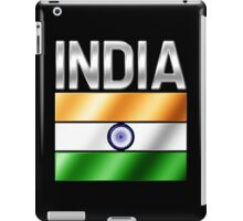 India - Indian Flag & Text - Metallic iPad Case/Skin