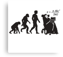 Stephen Hawkins Science Evolution Big Bang Theory  Canvas Print