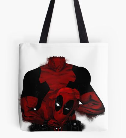 Headless Deadpool Tote Bag
