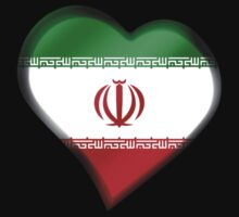 Iranian Flag - Iran - Heart by graphix