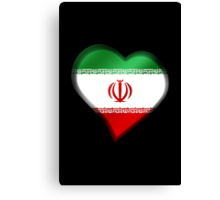 Iranian Flag - Iran - Heart Canvas Print