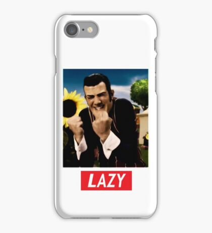 Robbie Rotten is a Lazy Man iPhone Case/Skin