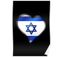 Israeli Flag - Israel - Heart Poster