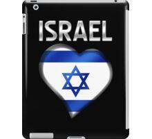 Israel - Israeli Flag Heart & Text - Metallic iPad Case/Skin