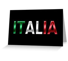 Italia - Italian Flag - Metallic Text Greeting Card