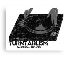 American Hip Hop - Turtablism Canvas Print