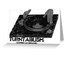 American Hip Hop - Turtablism Greeting Card