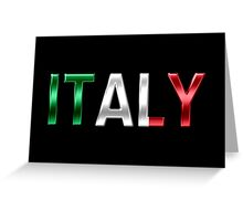 Italy - Italian Flag - Metallic Text Greeting Card