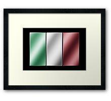 Italian Flag - Italy - Metallic Framed Print