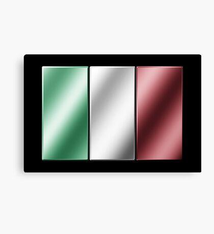 Italian Flag - Italy - Metallic Canvas Print