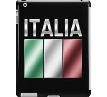 Italia - Italian Flag & Text - Metallic iPad Case/Skin