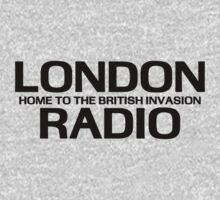 British Invasion - London Radio (Black) Kids Tee