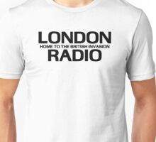 British Invasion - London Radio (Black) Unisex T-Shirt