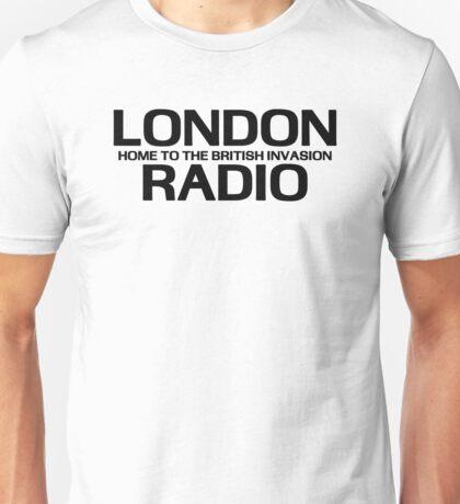 British Invasion - London Radio (Black) Unisex T-Shirt