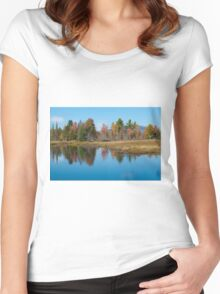 Foliage Reflections Women's Fitted Scoop T-Shirt