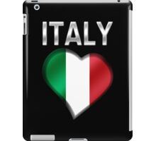 Italy - Italian Flag Heart & Text - Metallic iPad Case/Skin
