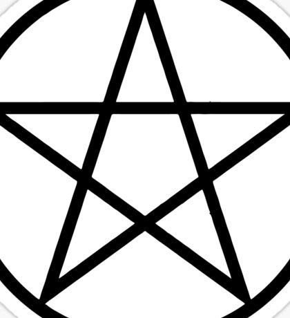 Pentagram | Pentacle | Star | Magic Symbol Print White on Black Sticker