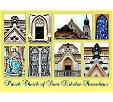 Parish Church Saint Nikolas Rosenheim Photographic Print