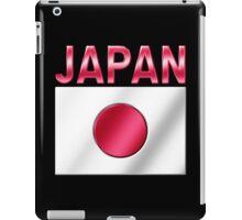 Japan - Japanese Flag & Text - Metallic iPad Case/Skin