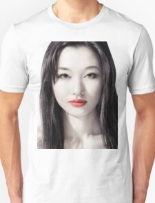 Sensual artistic beauty portrait of young asian woman face art photo print Unisex T-Shirt