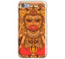 African, bali or maya shaman or voodoo doctor with mask iPhone Case/Skin