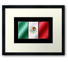 Mexican Flag - Mexico - Metallic Framed Print