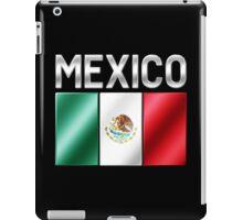 Mexico - Mexican Flag & Text - Metallic iPad Case/Skin
