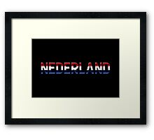 Nederland - Dutch Flag - Metallic Text Framed Print