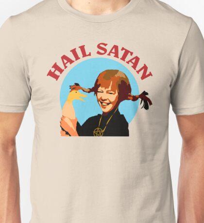 """Pippi Longstocking """"Hail Satan"""" Unisex T-Shirt"""