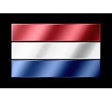 Dutch Flag - Netherlands - Metallic Photographic Print