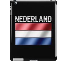 Nederland - Dutch Flag & Text - Metallic iPad Case/Skin
