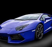 Blue Aventador by Matt Malloy