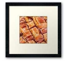 Cooked Bacon Mat Framed Print