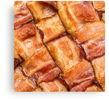 Cooked Bacon Mat Canvas Print