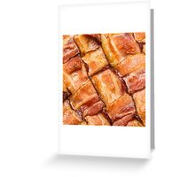 Cooked Bacon Mat Greeting Card