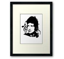 Bob Dylan - Stylized Framed Print