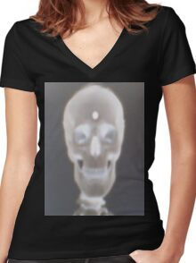 ONE TO THE DOME (ZOMBIES) Women's Fitted V-Neck T-Shirt