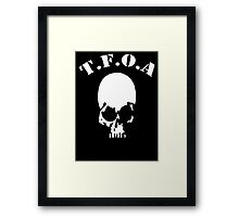 The Front of Armament - Skull Framed Print
